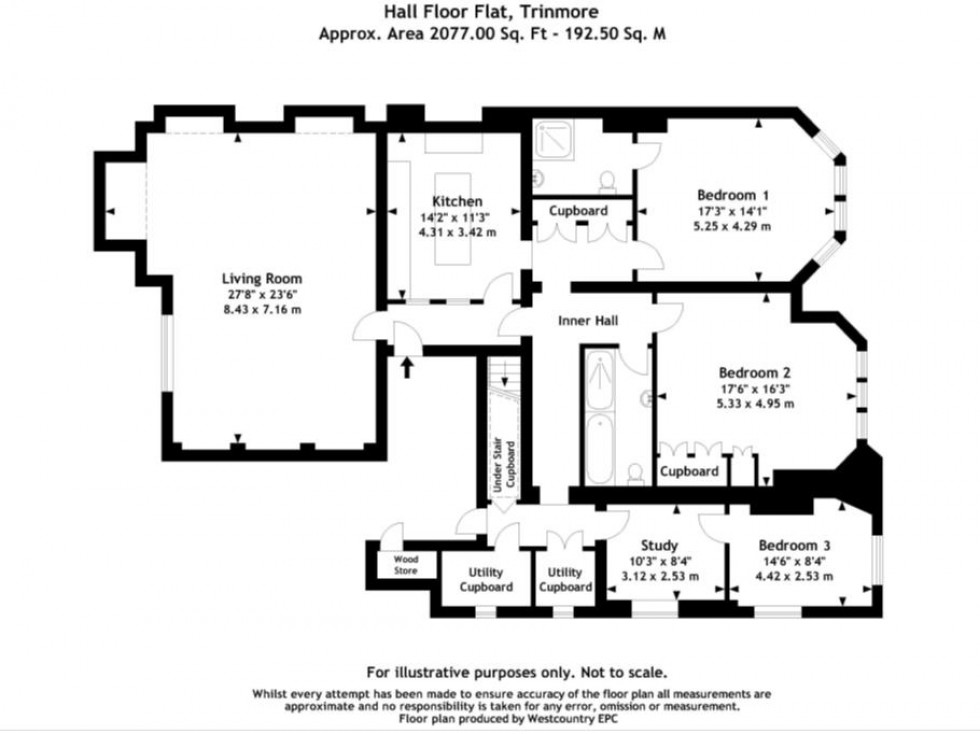 Floorplan for Clifton Down, Bristol