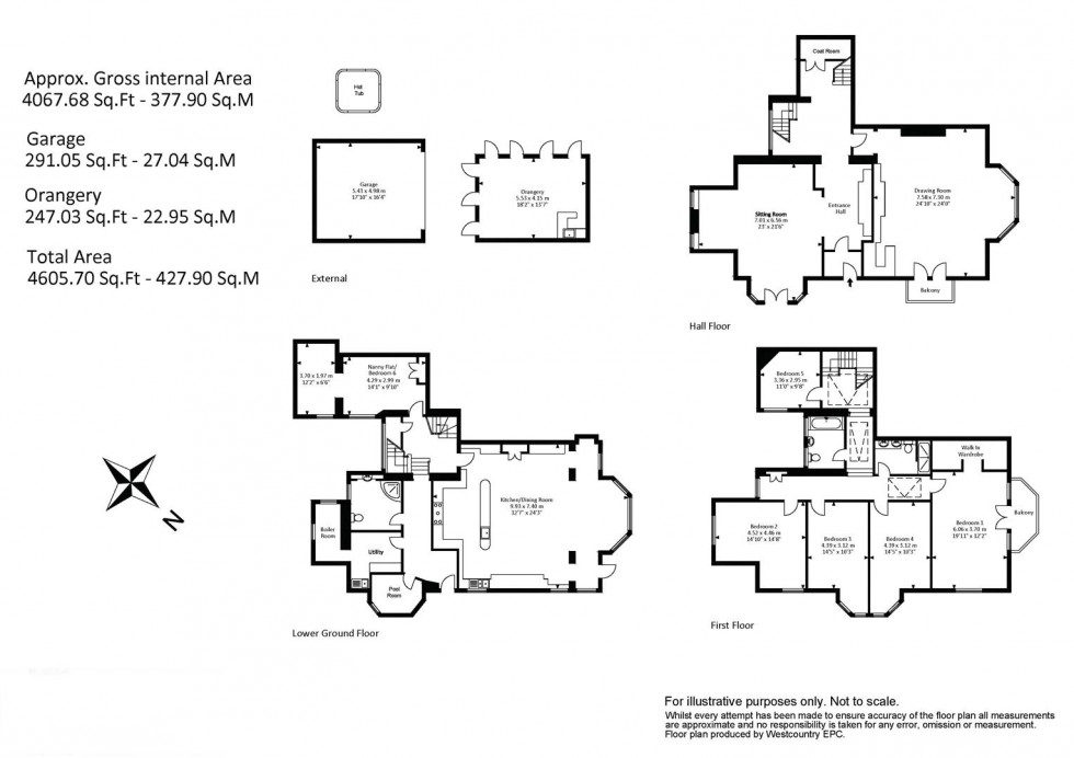 Floorplan for Sneyd Park, Bristol