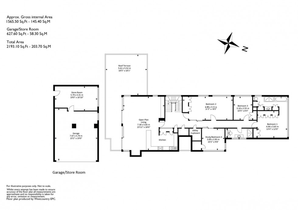 Floorplan for Harley Place, Clifton, Bristol