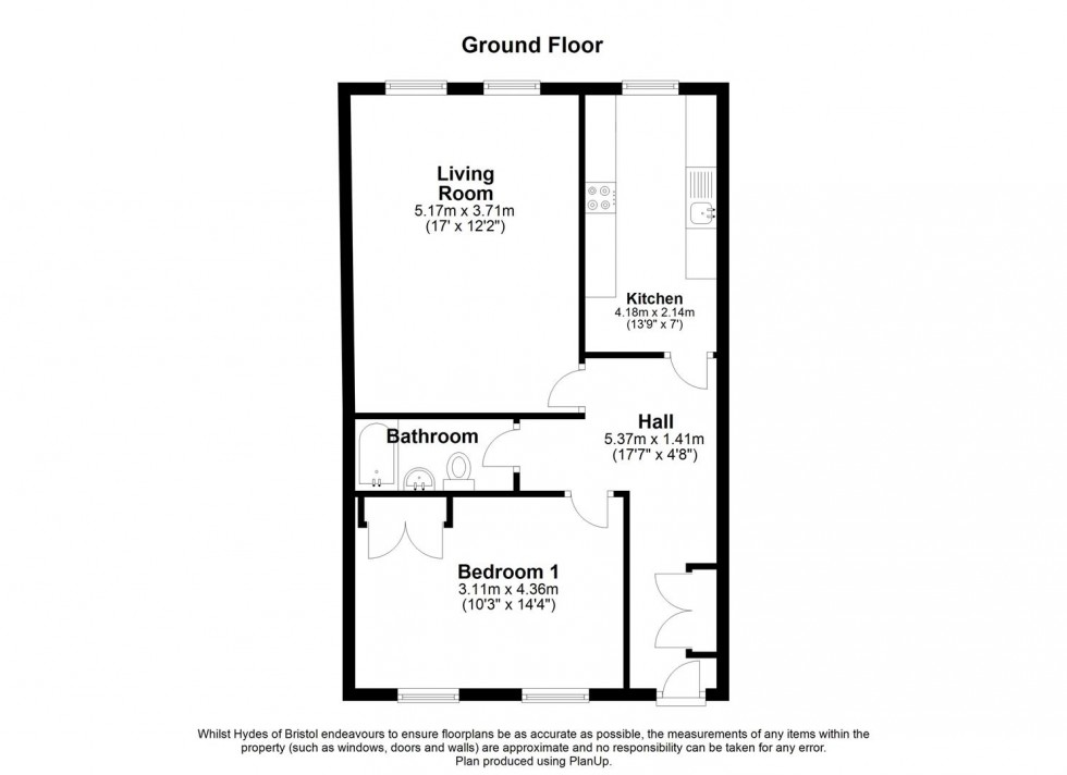 Floorplan for Harley Place, Clifton Down, Bristol